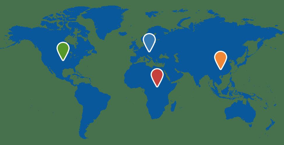 Verdenskort over hvor oversættelser bruges mest