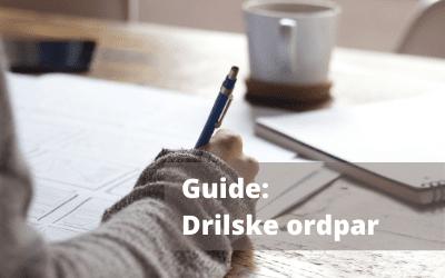 Guide: Drilske ordpar